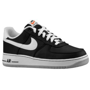 Nike Air Force 1 Low - Men's - Basketball - Shoes - Black/White/Wolf Grey
