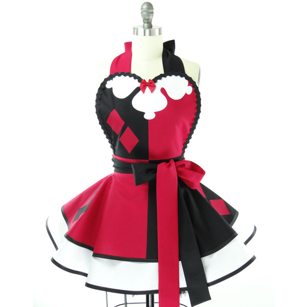 Retro Apron - Harley Quinn Sexy Womans Aprons - Vintage Apro... - Polyvore