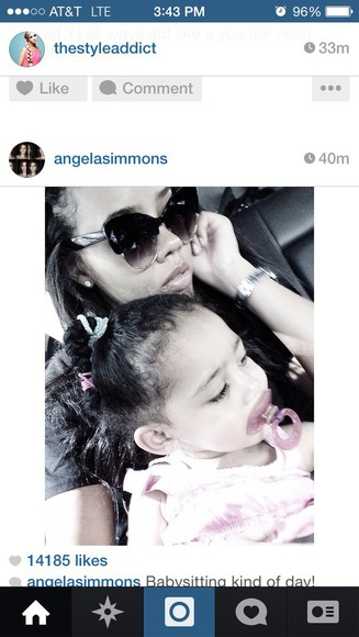 designers sunglasses Angela Simmons cateye sunglasses
