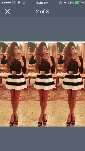 shirt stripes striped skirt fashion style pattern summer outfit night dress smart casual casual