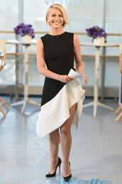 high-low dresses,julianne hough,black and white dress,dress