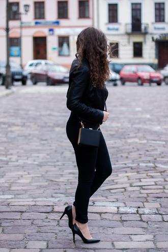 kolorowa dusza blogger jacket blouse pants belt jewels bag shoes