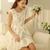 White/Black Organza A-line Round Neck Cute Dress : KissChic.com