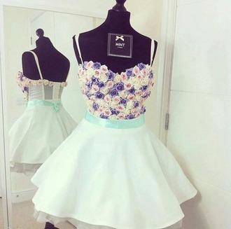 dress mint dress flower dress cute floral summer red summer dress cute dress