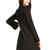 Black Lapel Long Sleeve Pockets Long Blazer - Sheinside.com