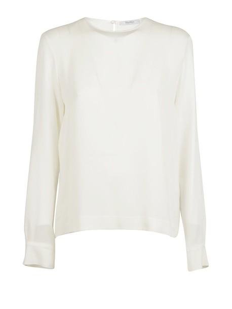 Max Mara blouse classic white top