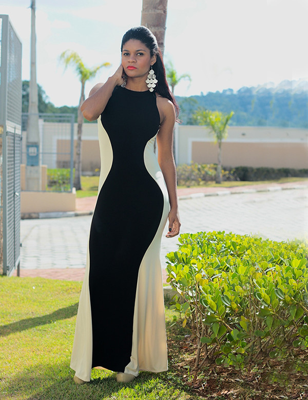 dress maxi dress maxi dress maxi vest long prom dress kim kardashian dress romwe dress trendy trendy fashion estilopropriobysir estiloproprio siça ramos maxi sexy white dress sexy girly