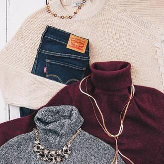sweater beige sweater jeans blue jeans red sweater grey sweater