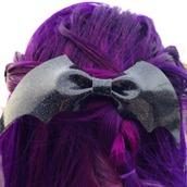 hair accessory,hair clip,bat,halloween,hair,batman,hair accesssory,hair bow,bats,halloween accessory,sexy halloween accessory,black headband,headband,black,glitter,bat headbane,cute,goth