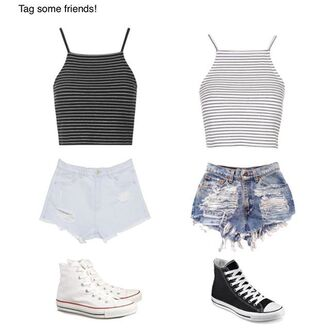 top halter top crop tops halter crop top stripes spaghetti strap summer outfits