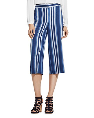 VINCE CAMUTO Striped Culottes | Bloomingdale's