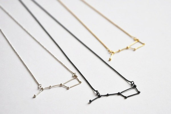 jewels ursa major necklace constellation constellations delicate neckace big dipper