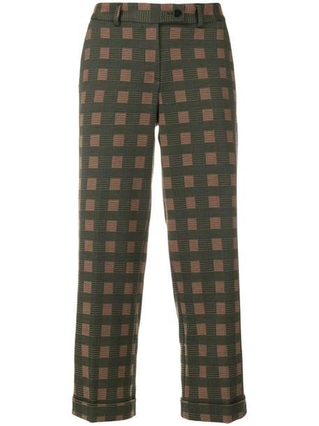 Meme cropped women spandex cotton green pants