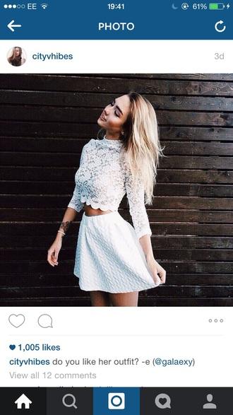 shirt crop tops skater skirt white skirt white crop tops summer skirt top skirt