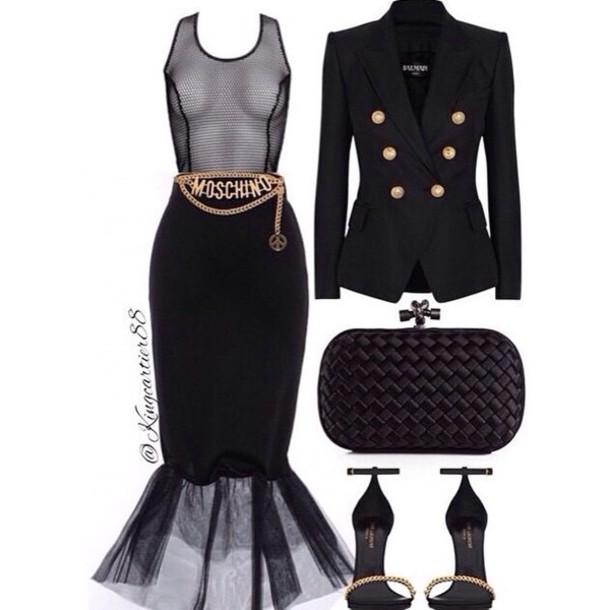skirt tutu skirt midi skirt black mesh.