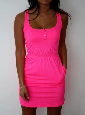 dress hot pink hot pink dress summer clothes pink pink dress hot sundress beautiful short dress