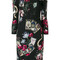 Roberto cavalli - mystic garden print dress - women - viscose - 44, black, viscose