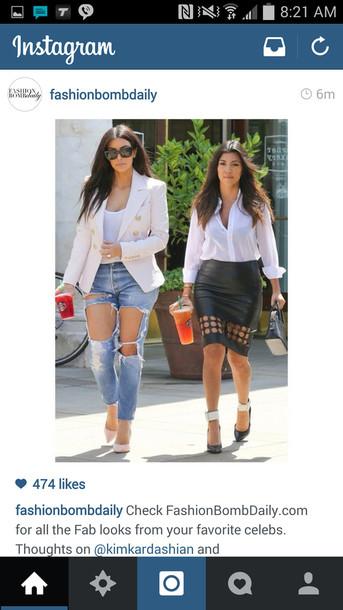 886d705d7d jeans, kim kardashian, boyfriend jeans - Wheretoget