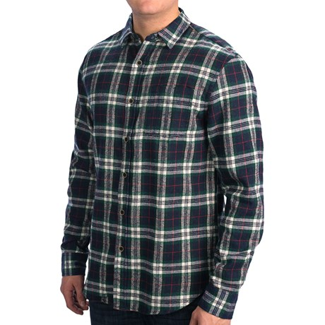 Slim fit flannel shirt long sleeve for men for Trim fit flannel shirts
