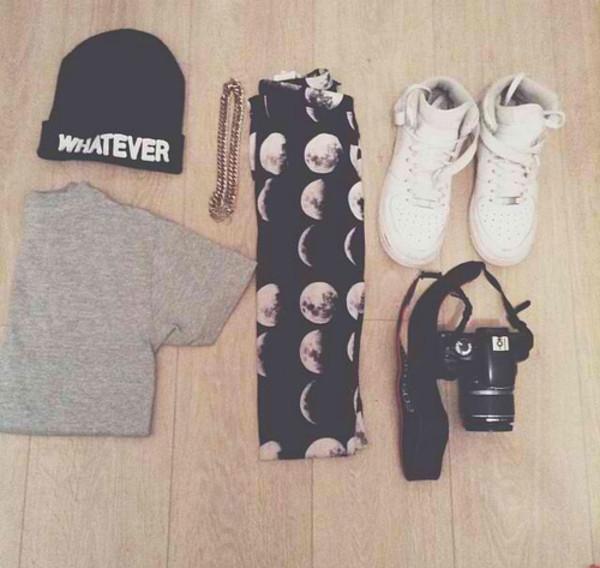 pants pale tumblr shoes