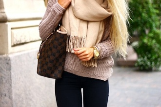 scarf bag nail accessories louis vuitton isabel marant louis vuitton bag cardigan pullover sweater blouse