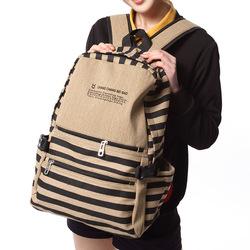 Neue 2013! Versandkostenfrei streifen rucksack, mode tasche unisex, multi farben schüler schultasche