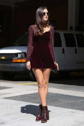 dress red burgundy long sleeves long sleeve dress velvet mesh sweetheart neckline shoes winter dress mini dress christmas dress velvet dress red velvet red velvet dress short dress short velvet cute dress