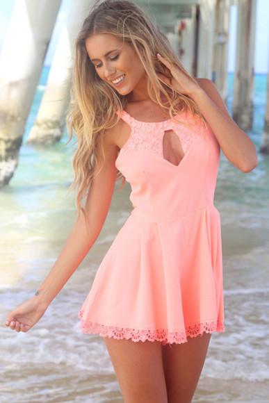 pink dress lace dress