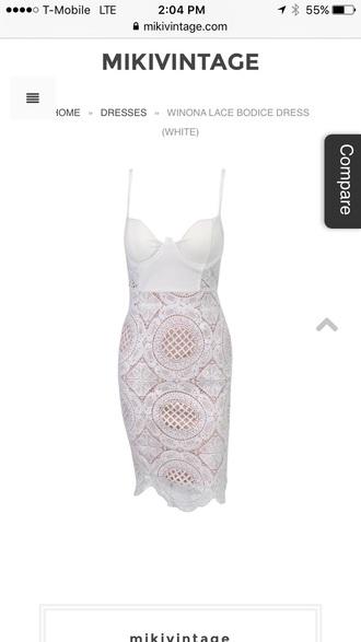 dress white lace dress bustier dress cocktail dress