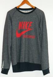 sweater,blouse,swearshirt,nike sportswear,grey,nike,sportswear
