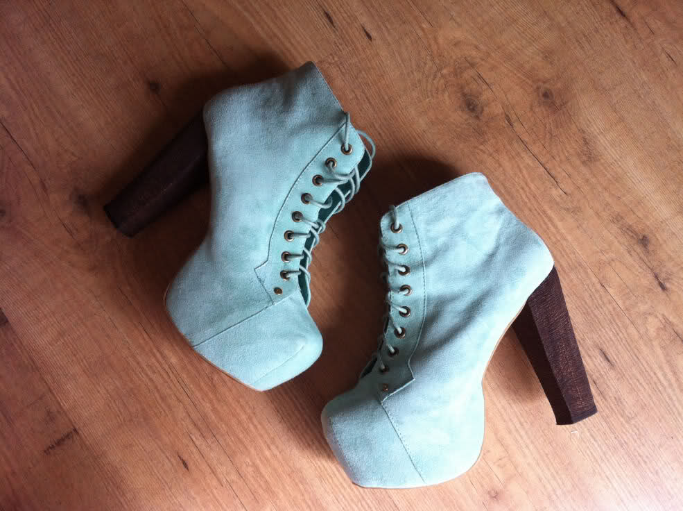 SOLD OUT Jeffrey Campbell Mint Green Suede Lita Platform Boots UK 5 6  | eBay