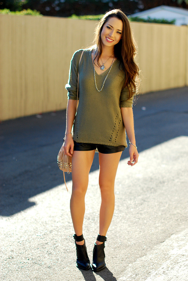 hapa time sweater shorts shoes bag jewels