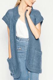 cardigan,short sleeve cardigan,blue cardigan