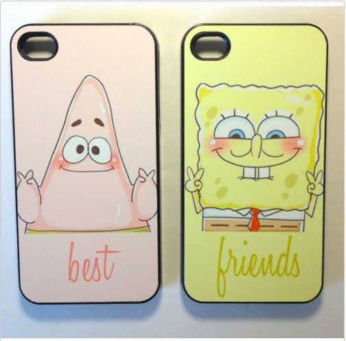 Hot sale Spongebob and Patrick Best Friends Cover Case for iphone 4s 4 5 5s 5c Free Shipping-in Phone Bags & Cases from Electronics on Aliexpress.com | Alibaba Group