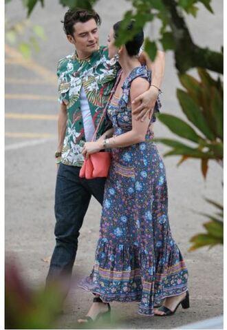 dress maxi dress summer dress katy perry orlando bloom