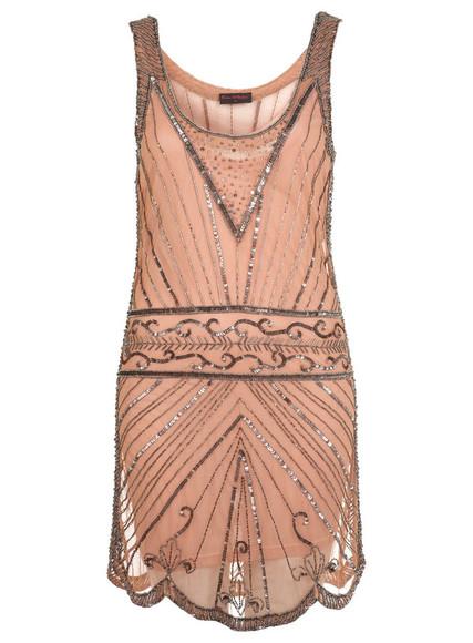 miss selfridge nude rose bling bling peach dress sparkly sequin dress