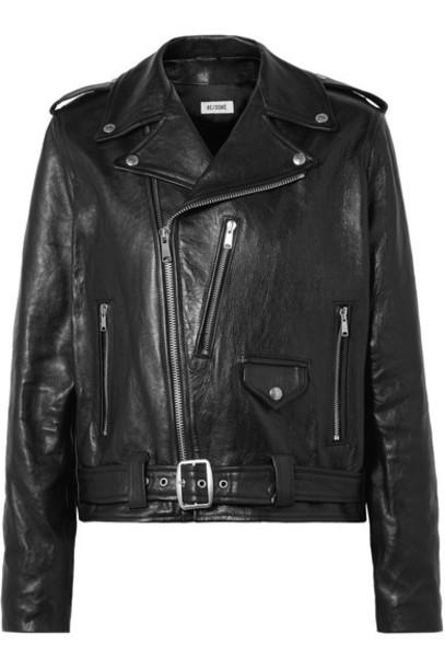 Re/Done jacket biker jacket oversized leather black