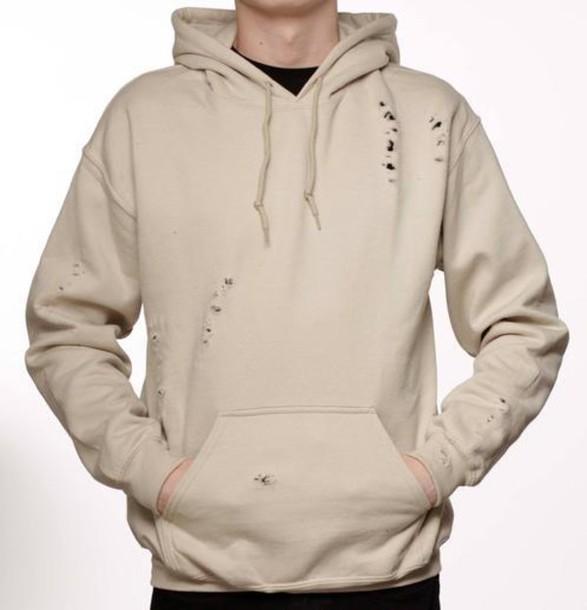 jacket hoodie nude kanye west distressed clothing. Black Bedroom Furniture Sets. Home Design Ideas