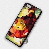 Geometric Superhero Ironman - iPhone 7 6 5 SE Cases & Covers