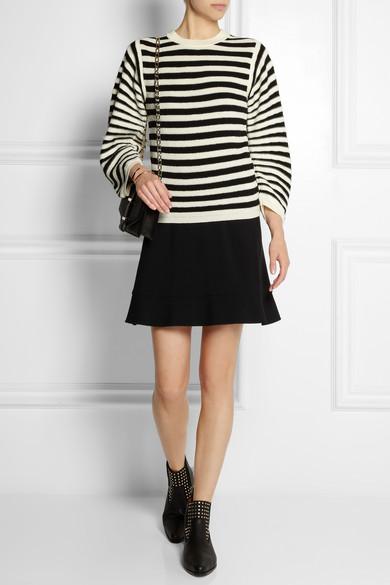 Striped textured
