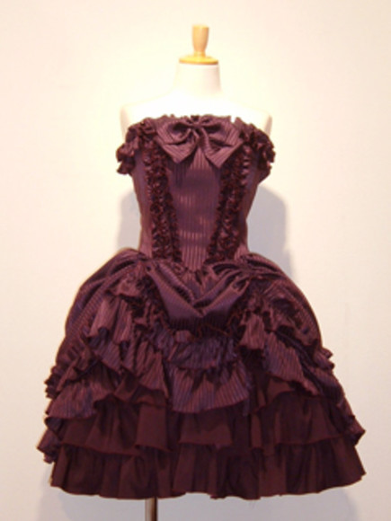 dress ruffles old victorian victorian dress red burgundy wine bow