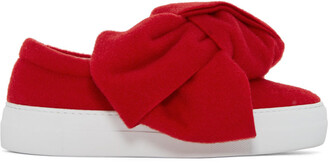 bow sneakers red shoes