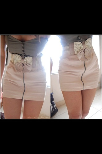 skirt bow button beaded pearl buttons white grey zip blouse dress cuteashell grey top cute skirt shirt top leather leather skirt pink skirt crop tops now bow skirt