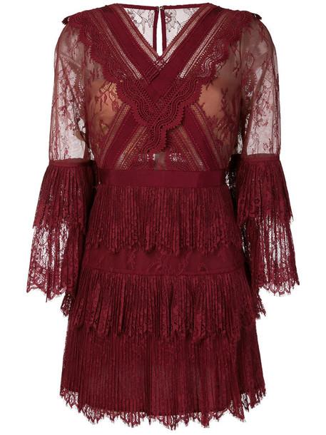 self-portrait dress lace dress women lace red