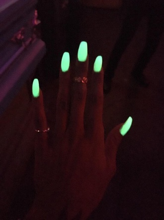 nail polish glow in the dark nail accessories nails cute