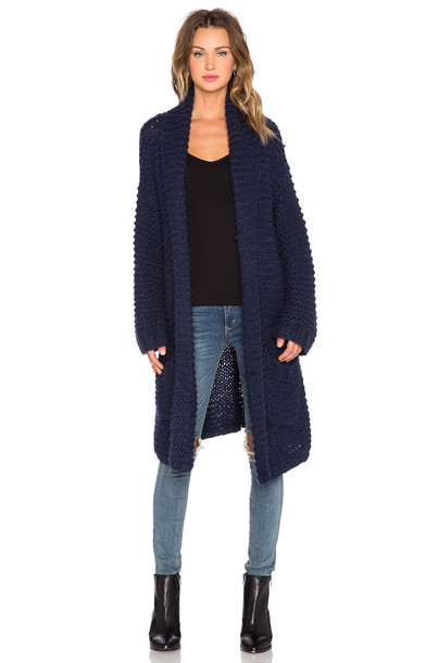 cardigan cardigan knit blue