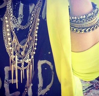 jewels punk vintage beads chain cardigan