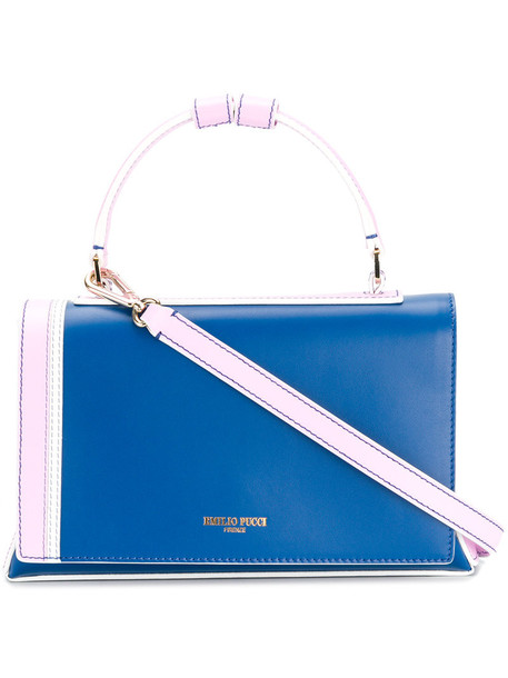 Emilio Pucci women bag shoulder bag leather blue