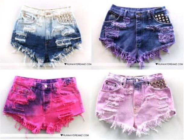 shorts tye dye shorts