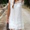 Sleeveless lace dress|disheefashion